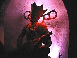 Pre-show statue